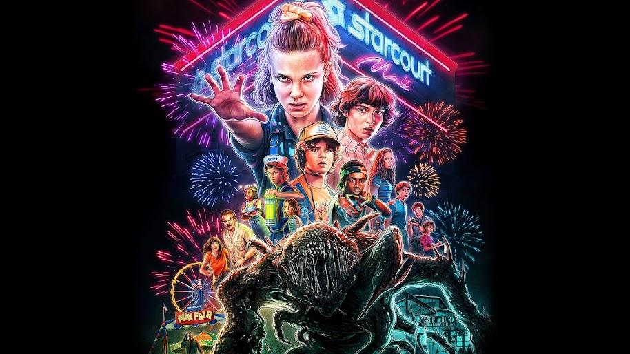 Stranger Things Season 3 Characters Poster 8k Wallpaper 16
