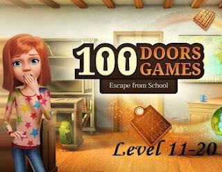 Jawaban 100 Doors Games Escape From School Level 11-20