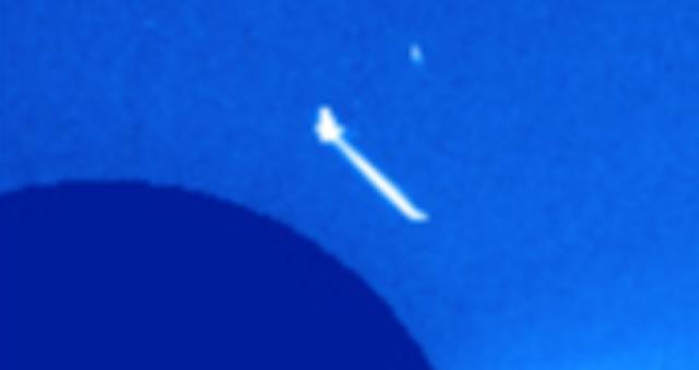 OVNI sale disparado más allá del sol, luego gira en dirección opuesta a la atracción gravitacional del sol, noviembre de 2020 2