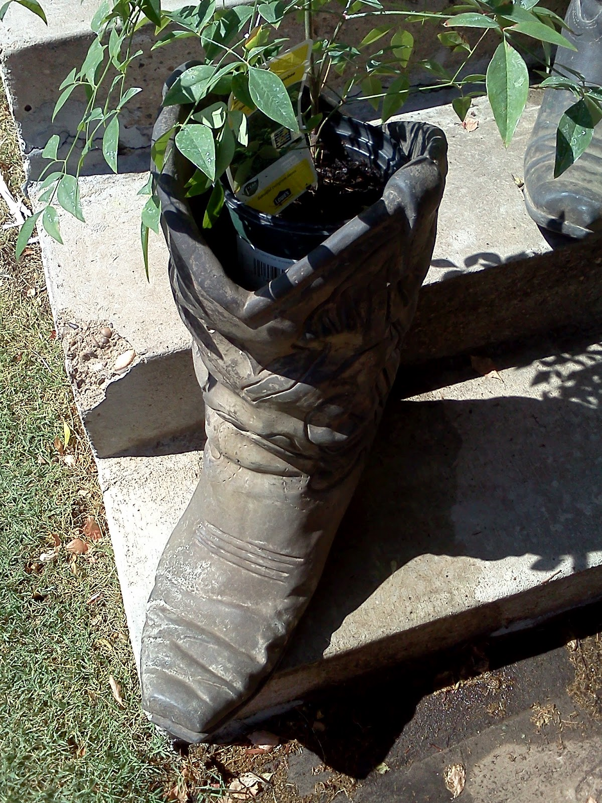 Maryland House Antiques Cowboy Boot Planter