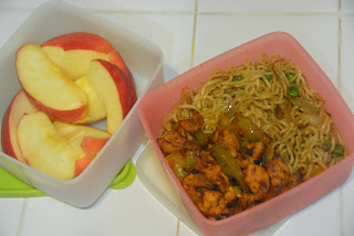 Hot chili chicken and noodles