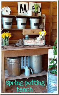 My Mother S Garden A Potting Bench My New Obsession