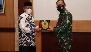 Plt Wali Kota Tanjungbalai Ikut menyambut Kunjungan Danrem 022 Pantai Timur di Makodim 0208/AS