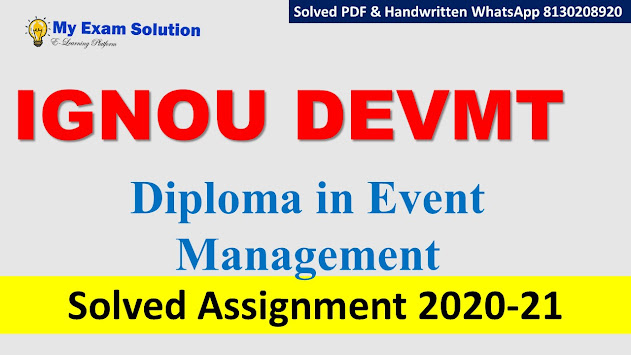 IGNOU DEVMT Solved Assignment 2020-21