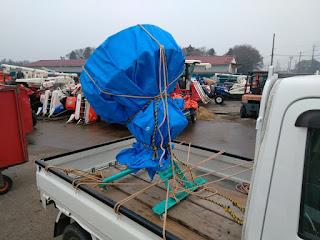 種子コーティングマシンKC-152軽トラック積載