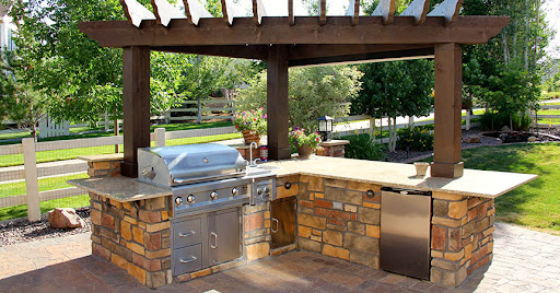 Backyard design ideas, backyard ideas, backyard designs, backyard kitchen design, outdoor kitchen design, backyard landscap design