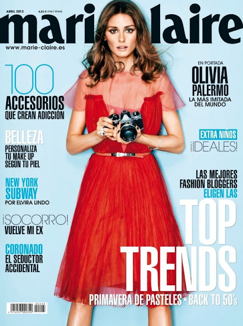 Sweet walking: Olivia Palermo for Marie Claire Spain