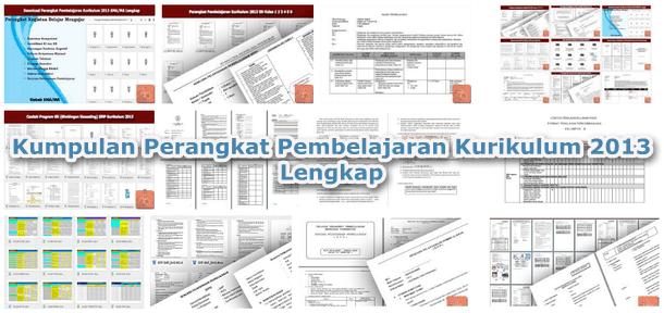 Kumpulan Perangkat Pembelajaran Kurikulum 2013 Lengkap Berkas Edukasi