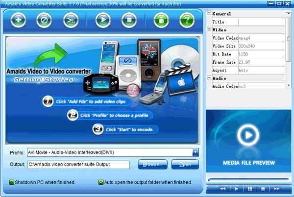 Download Amadis Video Converter v3.7.9