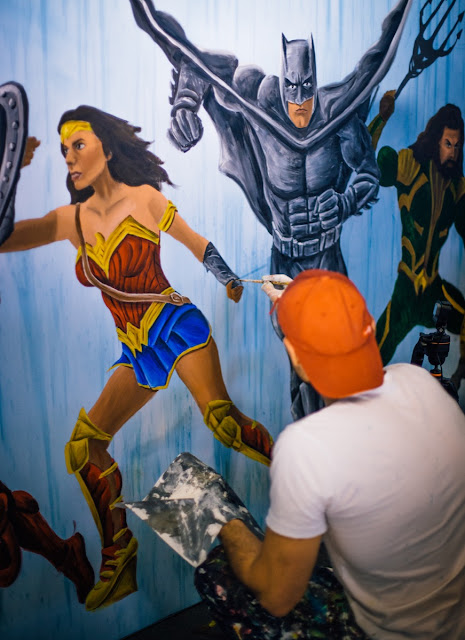 Justice League Movie Release - Ben Heine Art - Warner Bros Belgium - Live Performance - Facts Comic Con - Kinepolis Exhibition 2017