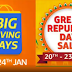 Amazon, Flipkart Republic Day Sales: Here Are Some of the Best Smartphone Deals