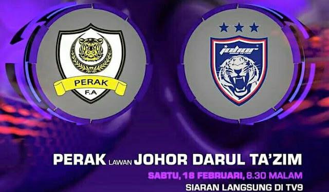 Live Streaming Keputusan JDT vs Perak 18 Feb 2017
