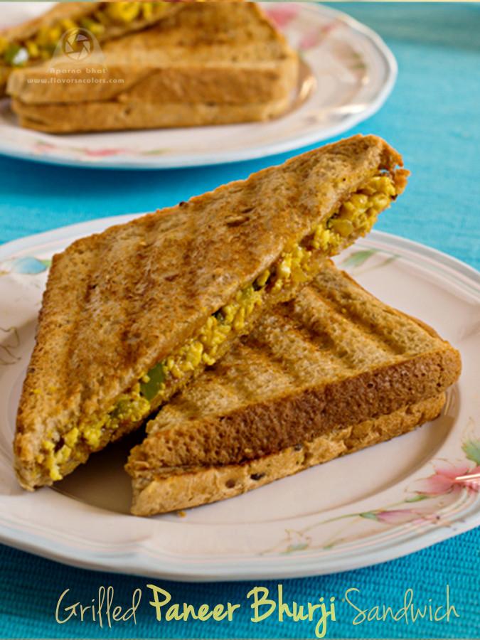 Grilled Paneer Bhurji Sandwich ~ Flavors N Colors