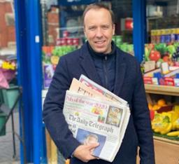 Matt Hancock gets the newspapers