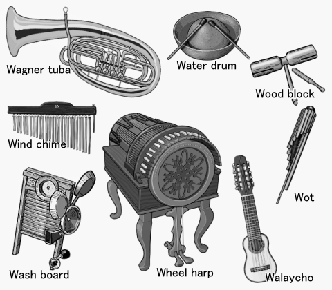 World musical instruments : Wagner tuba - Wot