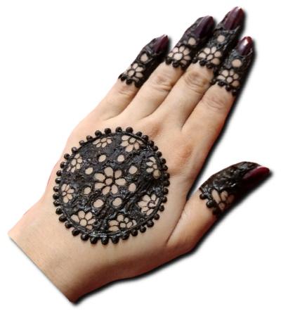 Back Hand Mehndi Design Gol Tikki