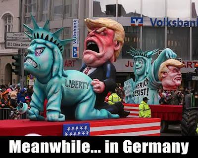 Donald Trump, estatua libertad, liberty, carroza