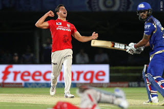Marcus Stoinis 4-15 - KXIP vs MI 43rd Match IPL 2016 Highlights