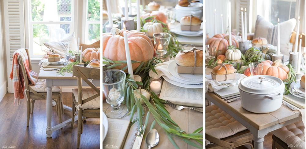 como decorar mesa para acción de gracias o thanksgiving con estilo clásico fácil y económico