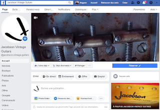 Page Facebook Jacobson Vintage Guitars