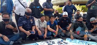 LJS demo tolak ruu kuhp dan kekerasan kepada wartawan