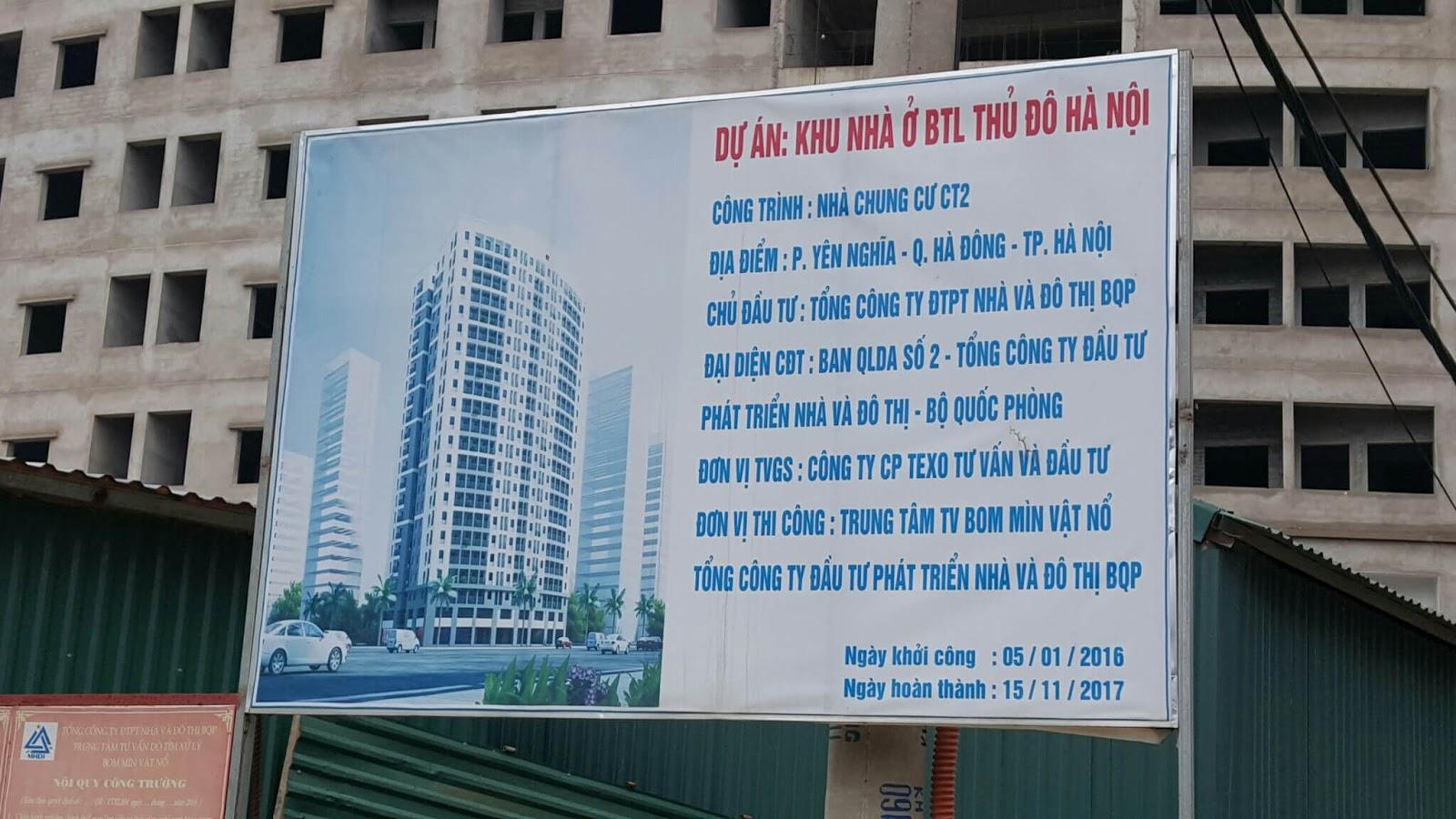 Chung cư CT4 Yên Nghĩa.