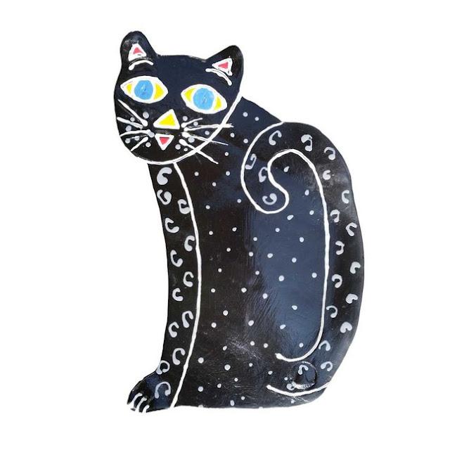 Kitty wall art Blue eyed kit-kat