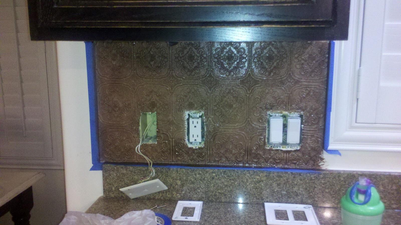Orchid Ln: paintable wall paper-DIY backsplash