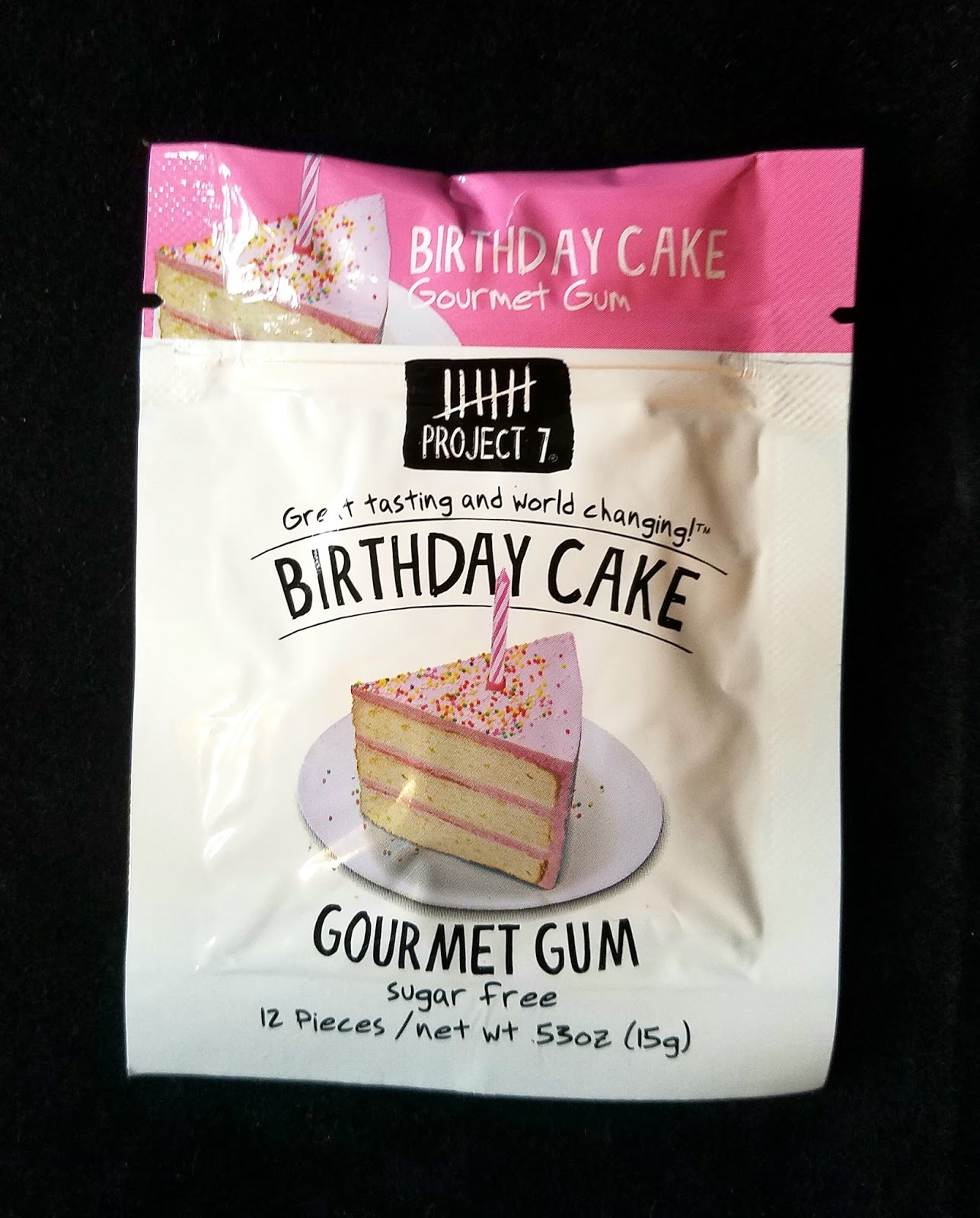 Obsessive Sweets: Project 7 Birthday Cake Sugar Free Gum