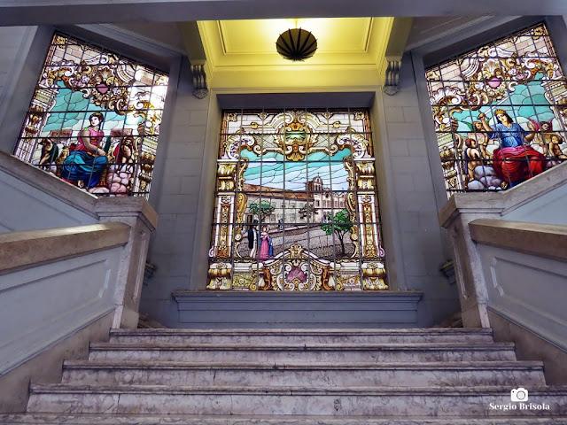 Vista ampla da Escadaria superior da Faculdade de Direito da USP - Sé - São Paulo