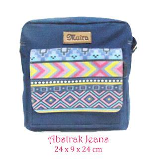 bahan jeans, kanvas motif, smallbag muira, grosir tas lucu