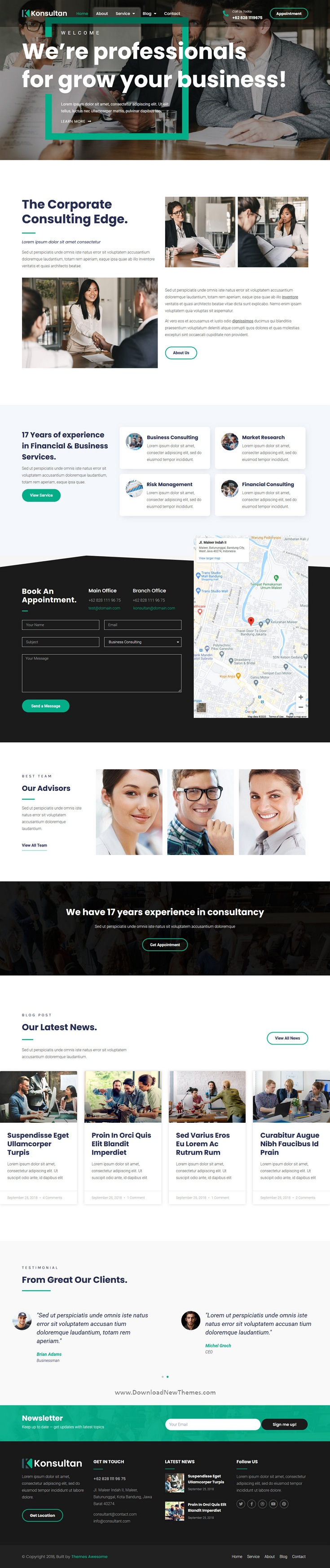 Consulting Business Elementor Template Kit