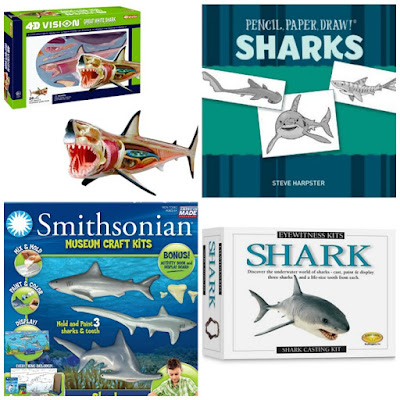 Hands on shark gifts for kids.