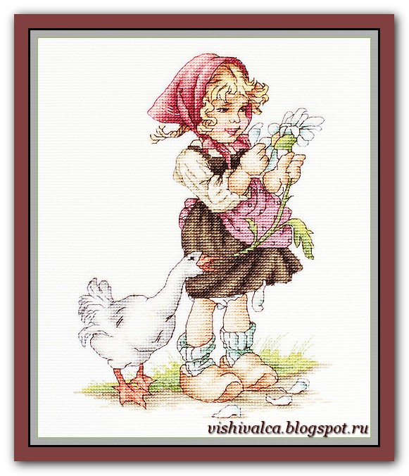 """Luca-S B1047 """"Girl with goose"""""""