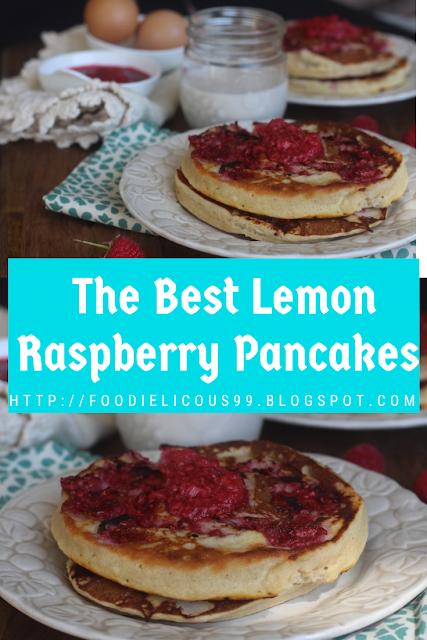 Lemon Raspberry Pancakes Healthy Recipe