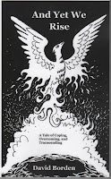 "Book Cover of ""And Yet We Rise"". Image of a Phoenix rising."
