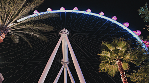 High Roller Ferris Wheel Las Vegas Linq