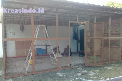 Pembuatan Pagar Kandang di Rumah Bu Liza Harahap di Bambu Apus Jakarta Timur