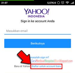 Buat email yahoo lewat hp daftar gratis