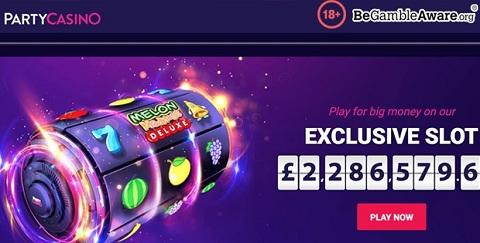 Ứng dụng di động Party Casino là độc nhất