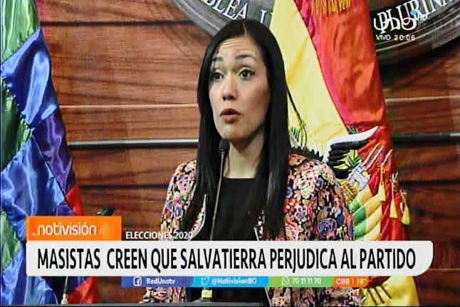Masistas creen que Adriana Salvatierra perjudica al partido