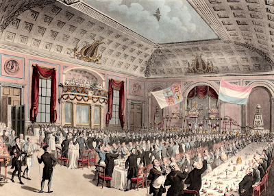 Dinner in Celebration of the Emancipation of Holland from France, City of London Tavern, Bishopsgate December 14, 1813 after Thomas Rowlandson (1814) The Met Museum DP885293