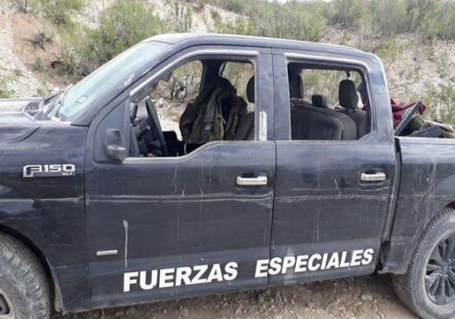 Sicarios al descender de las camionetas amenazaron de muerte a los oficiales, haciéndoles saber que pertenecían al Grupo Operativa Espartano del Cartel del Golfo