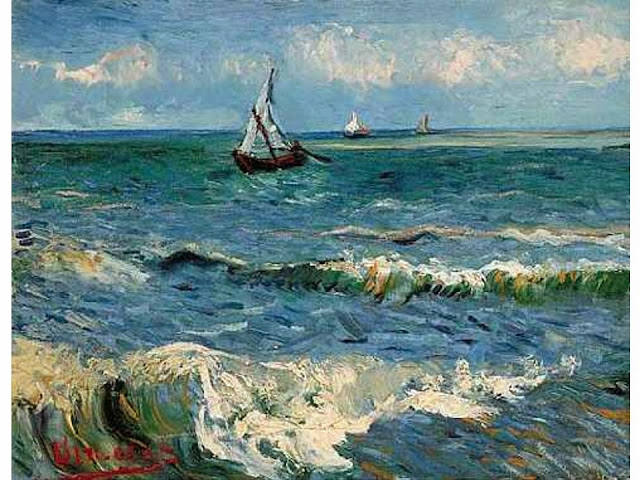 The Sea at Saintes Maries de la Mer by Van Gogh