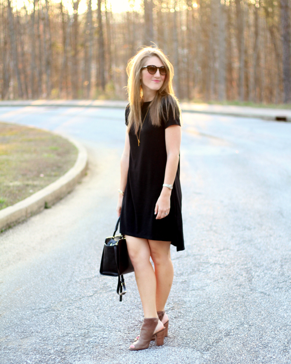 comfortable black dress
