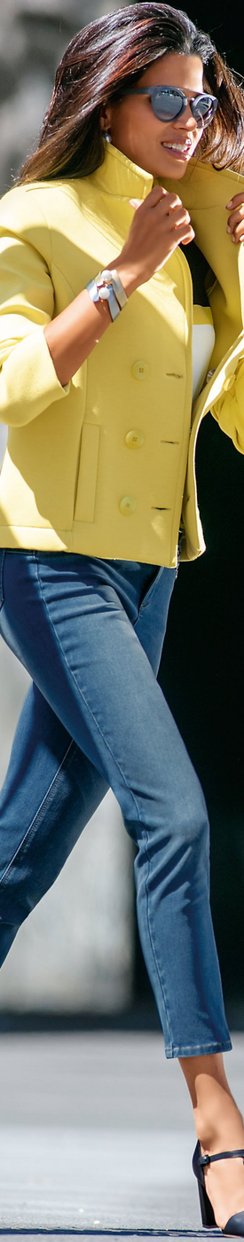 MADELEINE Yellow Blazer