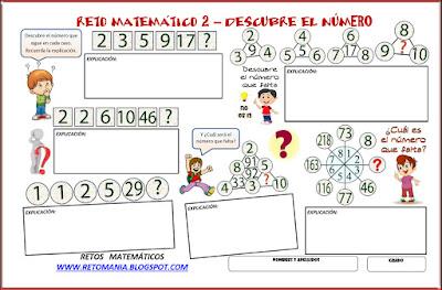 Descubre el número, Qué número falta, ¿Cuál es el número que sigue?, Desafíos matemáticos, Problemas matemáticos, Problemas de lógica, Encuentra el número que falta, Retos matemáticos, Desafíos matemáticos, Problemas de ingenio, Problemas para pensar