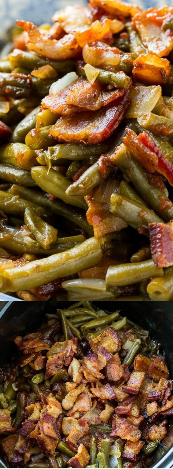 Slow Cooker Barbecued Green Beans