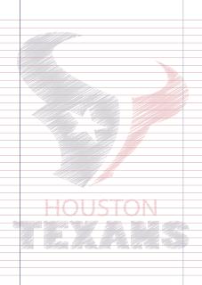 Papel Pautado Houston Texans rabiscado PDF para imprimir na folha A4