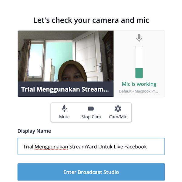 Live Streaming Facebook dengan Streamyard